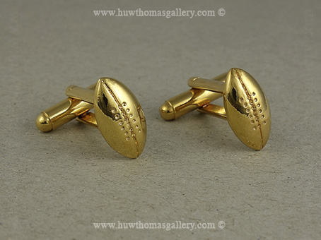 Ruby Ball Cufflinks in Gold finish