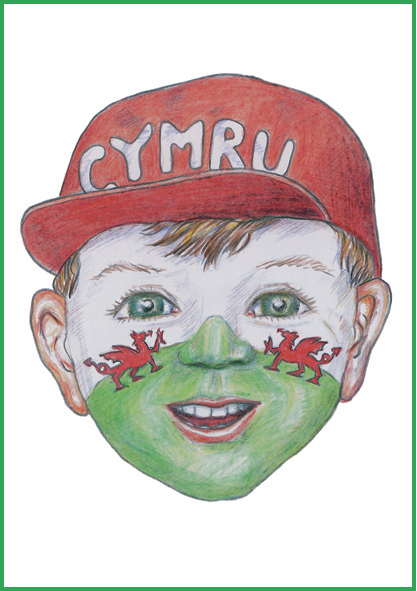 St David's Day Card Welsh Boy