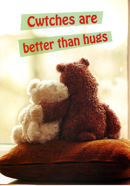 Mother's Day -Teddy Bears Cwtches - Welsh Greeting Card