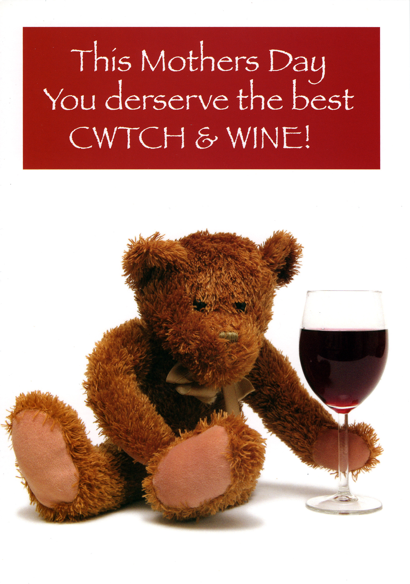 Mother's Day - Cwtch & Wine - Welsh Greeting Card