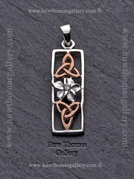 Silver & Rose Gold Pendant / Necklace