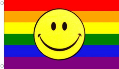 Rainbow Smiley Face 5 x 3