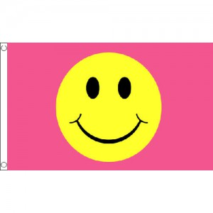 Pink Smiley Face 5 x 3