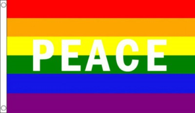 Rainbow Peace Flag 5x3