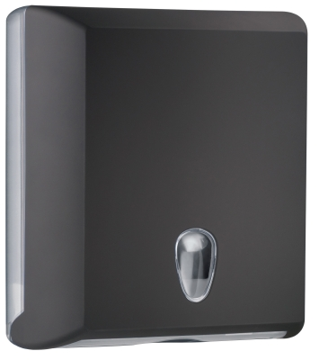 SOFT TOUCH BLACK HAND TOWEL DISPENSER