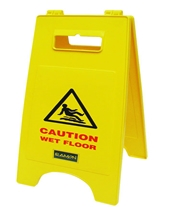 'DELUXE' CAUTION WET FLOOR SIGN
