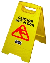 'ECONOMY' CAUTION WET FLOOR SIGN