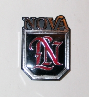 1975 Nova rear panel script and symbol