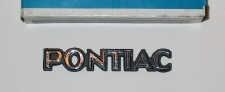 Pontiac' 1/4 panel adhesive badge