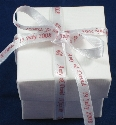 7mm White Ribbon Favour Box