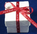 7mm Red Ribbon Favour Box