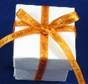 7mm Orange Ribbon Favour Box