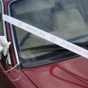 Wedding car ribbon picture