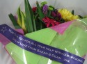 Purple Message Bouquet Ribbon