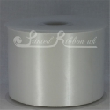 White 100mm Satin Ribbon roll