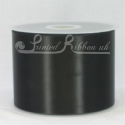 Black 100mm Satin Ribbon roll