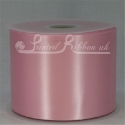LIGHT PINK 100mm Single faced satin ribbon 50m roll