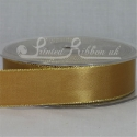Gold 25mm wide Gold Edge Satin Ribbon