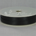 Black 7mm Satin Ribbon