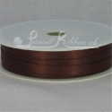 Coffe Brown 7mm plain ribbon roll