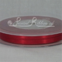RED 7mm satin ribbon roll