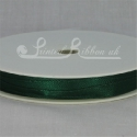 Dark Green 7mm Satin Ribbon roll of 20m
