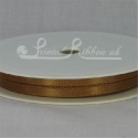 Gold 7mm Satin Ribbon roll