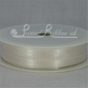 IVORY 7mm satin ribbon roll