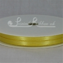 YELLOW 7mm satin ribbon roll