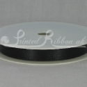 BLACK 10mm Double faced satin ribbon 20m roll