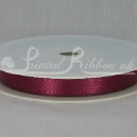 BURGUNDY 10mm Double faced satin ribbon 20m roll