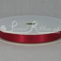 RED 10mm Double faced satin ribbon 20m roll