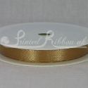 GOLD 10mm Double faced satin ribbon 20m roll
