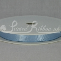 LIGHT BLUE 10mm Double faced satin ribbon 20m roll
