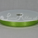 LIME GREEN 10mm Double faced satin ribbon 20m roll)
