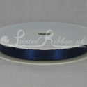 NAVY BLUE 10mm Double faced satin ribbon 20m roll