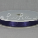 PURPLE 10mm Double faced satin ribbon 20m roll