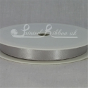SILVER 10mm Double faced satin ribbon 20m roll