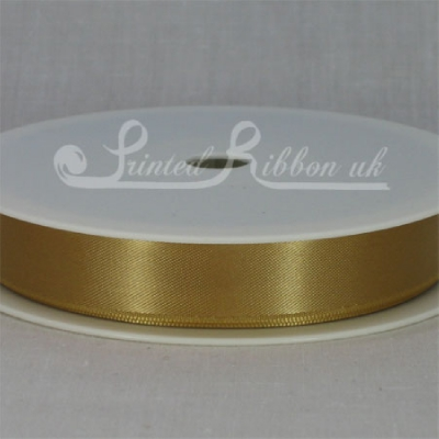 RD15GOLD25M GOLD 15mm Double faced satin ribbon - 25m roll