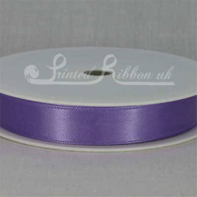 RD15LPUR25M LIGHT PURPLE 15mm Double faced satin ribbon - 25m roll
