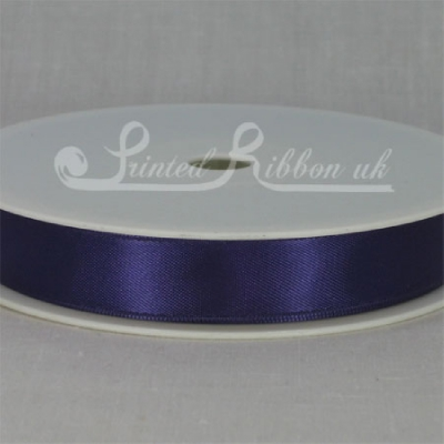 RD15PURP25M PURPLE 15mm Double faced satin ribbon - 25m roll