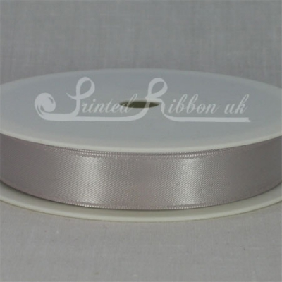 RD15SLVR25M SILVER 15mm Double faced satin ribbon - 25m roll