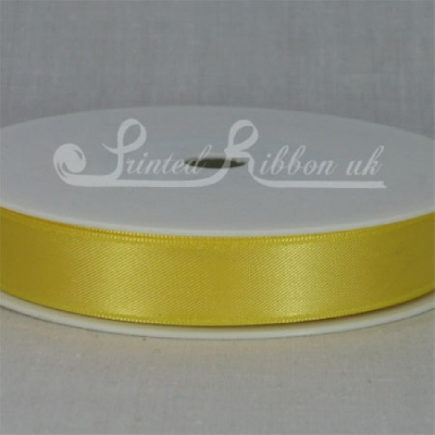 RD15YLLW25M YELLOW 15mm Double faced satin ribbon - 25m roll
