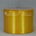 100mm Yellow satin ribbon 50m roll
