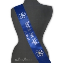 Royal Blue Bespoke satin 100mm personalised printed sash for hen nights