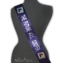 100mm Hen Night purple printed sash printed hen sash