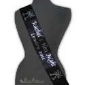 100mm Hen Night Black printed sash printed hen sash