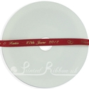 7mm red personalised printed satin ribbon 25m