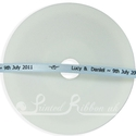 7mm light blue printed ribbon 25m