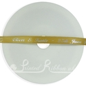 7mm Gold personalised ribbon 25m
